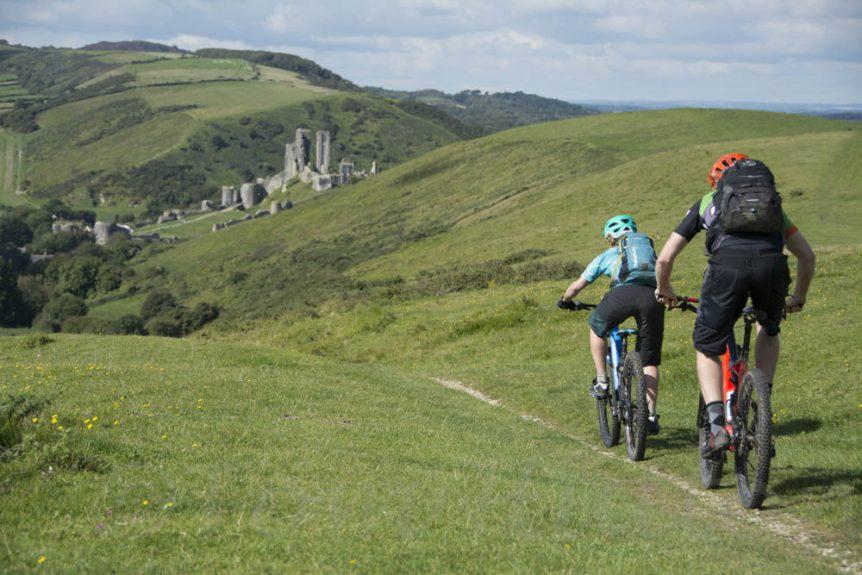 Mountain Biking Purbecks Old Harry Rocks Corfe Castle
