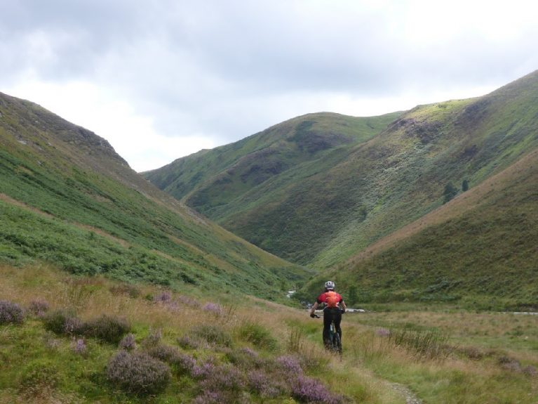 guided Mountain biking in wales Doethie valley elan valley trans cambrian way