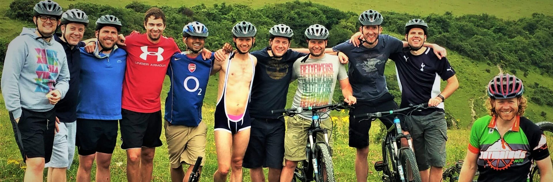 Stag Hen Party Mountain biking on the South Downs MTB weekends